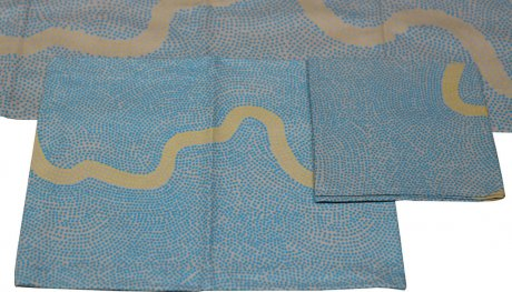 River Blue Yellow Placemat