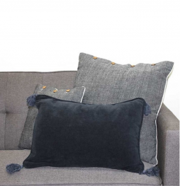 Chenille Charcoal Cushion Cover 40x55cm