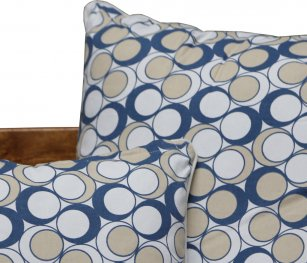 Neea Blue/Beige 60x60cm Cushion Cover