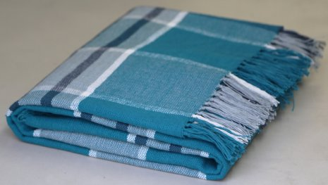 Campagne Teal/Grey Throw