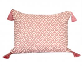 Jaipur Dusky Rose Tassel Cushion Cover 40x55cm