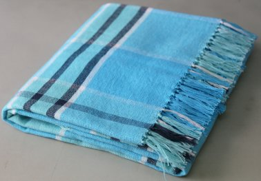 Campagne Blue/Green Throw