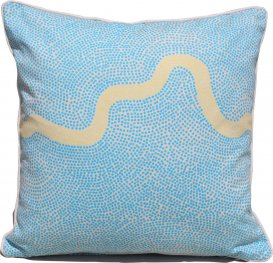River Blue Yellow Scatter Cushion Cover 40x40cm