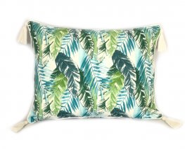 Forest Foliage Tassel Cushion Cover 40x55cm