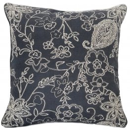 Paisley Navy Scatter Cushion Cover 40x40cm